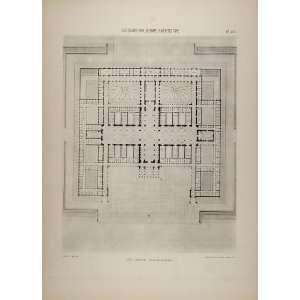 Architecture Law Court Floor Plan   Original Print