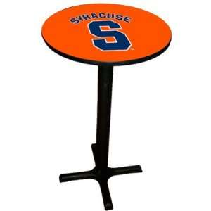 com Syracuse Orange College Laminated Pub Table w/black trim & black
