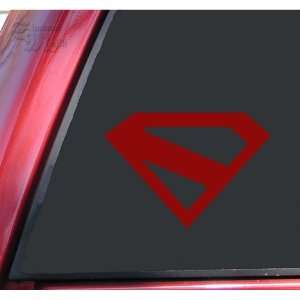 Superman Kingdom Come Vinyl Decal Sticker   Dark Red