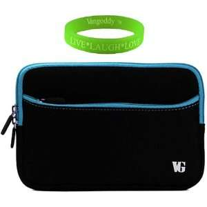 Padded, Scratch & Water Resistant Black with Blue Trim Neoprene Sleeve