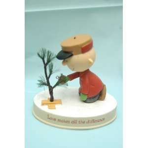 2011 Peanuts Gallery Charlie Brown Christmas Tree Figurine