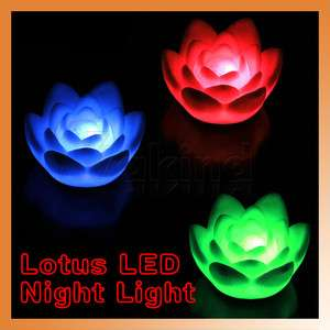 LED Changing Color Lotus Xmas Mood Lamp Night Lamp Light Party