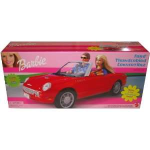 Barbie Ford Thunderbird Convertible Vehicle with Tilt Steering Wheel