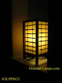 Handmade Shoji Japanese Asian Oriental Bamboo, Wood Table Lamp #621