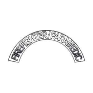 Paramedic White Firefighter Fire Helmet Arcs / Rocker Decals