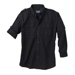 New   Woolrich Mens Long Sleeve Shirt Blk L   44902 BK L