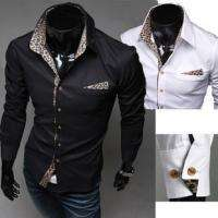 Korean Sexy Leopard Slim Shirt Simple Casual Style Shirt 3258