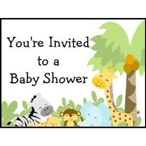 Its a Jungle Baby Shower postage stamp