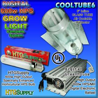 Digital 600 watt HPS GROW LIGHT 600w COOL TUBE cooltube