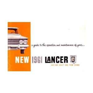 1961 DODGE LANCER Owners Manual User Guide Automotive