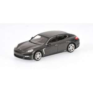 20009 PORSCHE PANAMERA TURBO IN DARK GRAY METALLIC DIECAST