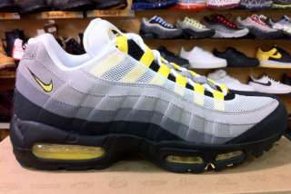 Nike Air Max 95 White, Grey and yellow Men Sz
