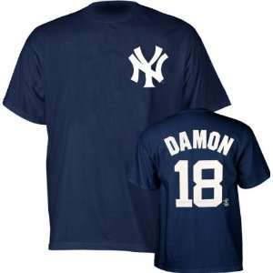 Johnny Damon Majestic Name and Number New York Yankees T Shirt