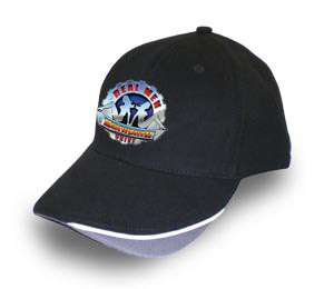 KENWORTH TRUCK REAL MEN BLACK BASEBALL CAP/HAT