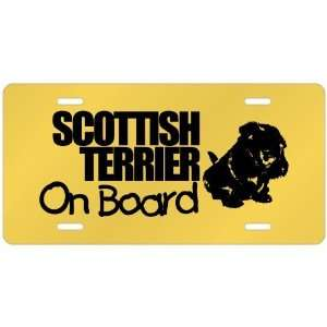 New  Scottish Terrier On Board  License Plate Dog