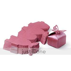 50 x Wedding Favors Butterfly Pattern Candy Gifts Boxes