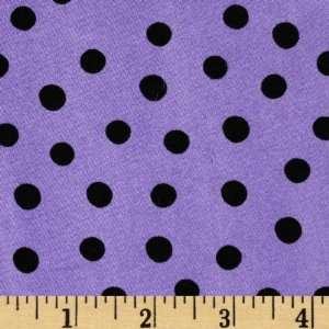 44 Wide Spooktacular Polka Dots Lavender Fabric By The