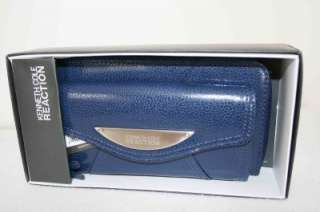 New Kenneth Cole Emboss Clutch Wallet Gift BOX Ret$60
