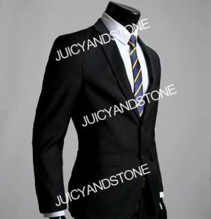 New Mens Fashion Stylish Slim Fit Two Buttons Suit XZ07