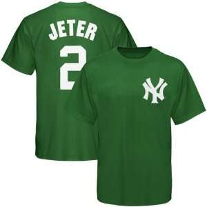 Majestic New York Yankees Kelly Green Youth #2 Derek Jeter