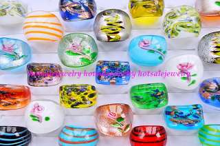 wholesale 50pcs Sz#7 #9 colored Exquisite pretty murano glass rings