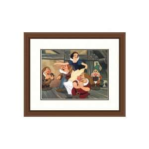 Disney Framed Art Snow White with Dwarfs Children Kids