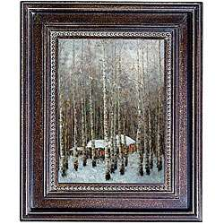 Hand painted Winter Scene Canvas Art