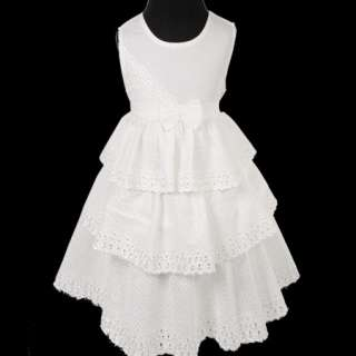 KD214 Beautiful Ivory Baby Girl Flowers Lace Dress 1 4T