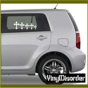 Family Decal Set Religious 05 Stick People Car or Wall Vinyl Decal