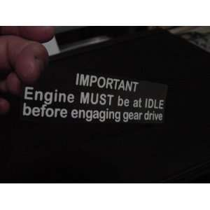 Husqvarna Husky Motorcycle Idle Warning Decal for Fuel