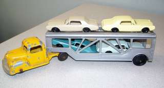 Vintage Toosie Toy Car Transporter / Carrier & 4 Plastic F & F Cars