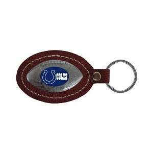 Indianapolis Colts Leather Football Key Tag Sports