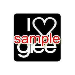 I HEART LOVE GLEE WHITE VINYL DECAL STICKER Everything