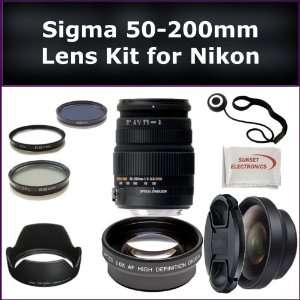 High Performance Telephoto Zoom Lens Kit For Nikon D3000, D3100, D5000