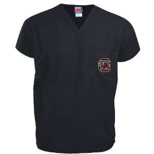 NCAA South Carolina Gamecocks Black Scrub Top Sports