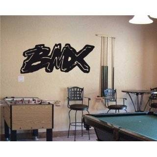 BMX BICYCLE FREESTILE Wall MURAL Vinyl Decal Sticker 01