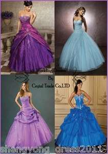 2012 Quinceanera Wedding dress Ball Gown/Prom Evening dresses US SIZE4