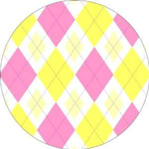 & Yellow Argyle Art   Fridge Magnet   Fibreglass reinforced plastic