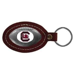 South Carolina Gamecocks Leather Football Key Tag   NCAA