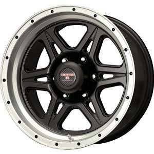 Level 8 Strike 6 Matte Black Wheel with Machined Lip (16x8