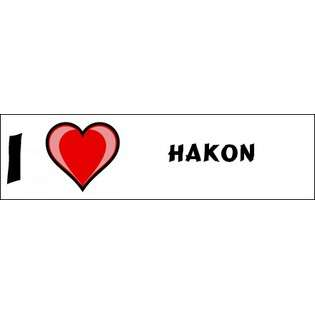 Love Hakon Bumper Sticker (3x12)  SHOPZEUS Computers & Electronics
