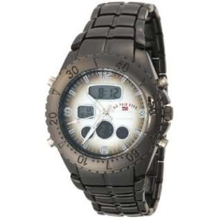 Polo Assn. Mens US8139 Gun Metal Analog Digital Sporty Bracelet Watch
