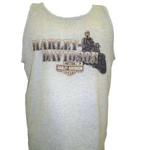 Harley Davidson Las Vegas Dealer Tank Top Tee T Shirt Gray LARGE #TSX