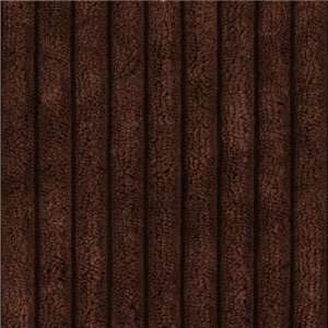 60 Wide Minky Cuddle Ribbed Brown Fabric By The Yard