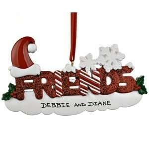 Personalized Friends Letters Christmas Ornament