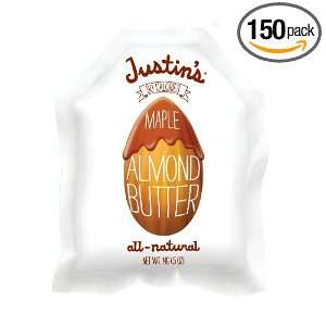 Justins Natural Maple Almond Butter, 0.5 Ounce (Pack of 150)
