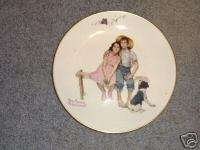 Norman Rockwell Gorham Fine China Plate Ex Condition