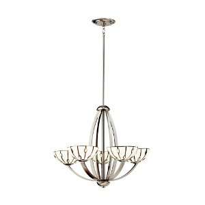 Cloudburst Collection 5 Light 26ö Polished Nickel Chandelier with