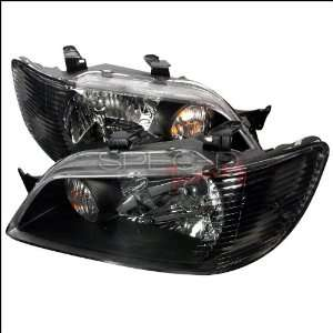 Mitsubishi Lancer 2002 2003 Euro Headlights   Black Automotive