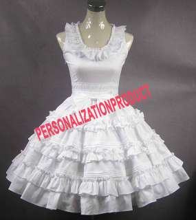 Elegant sweet lolita Southern Belle Fancy bow Lace Ball Gown White